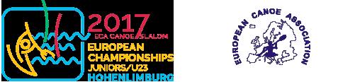 European Canoe Slalom Juniors & U23 Championships 2017 logo